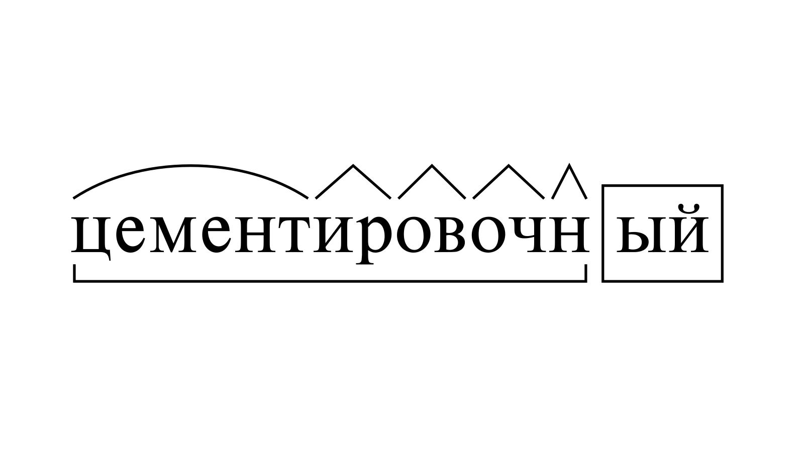 Разбор слова «цементировочный» по составу