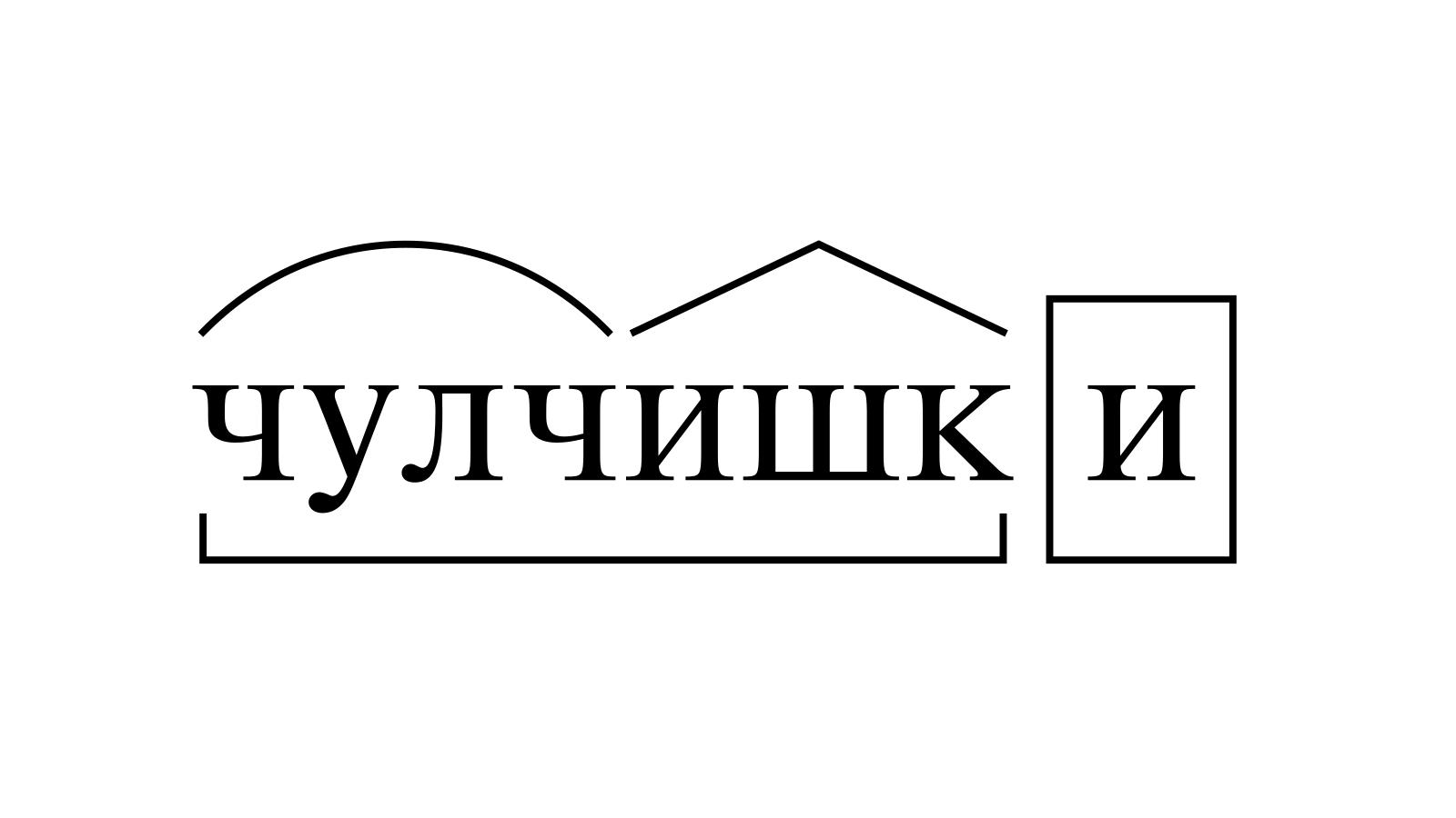 Разбор слова «чулчишки» по составу
