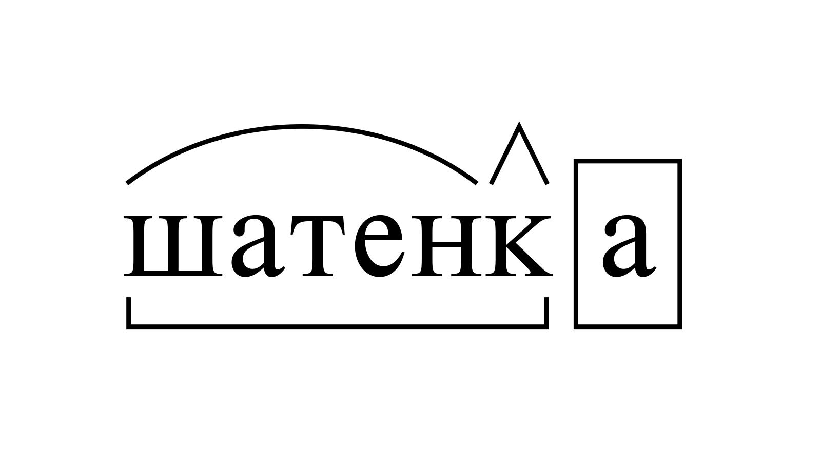 Разбор слова «шатенка» по составу