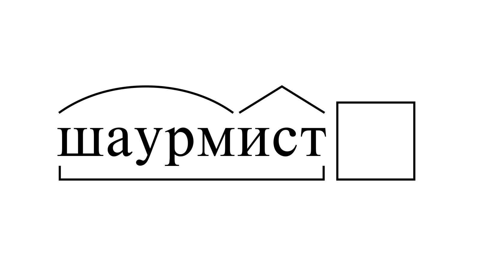 Разбор слова «шаурмист» по составу
