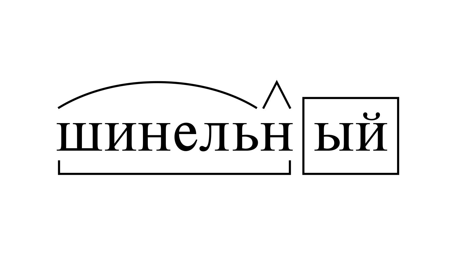 Разбор слова «шинельный» по составу