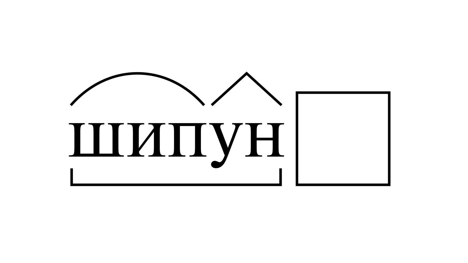 Разбор слова «шипун» по составу