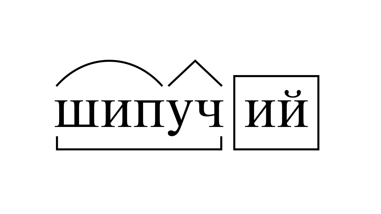 Разбор слова «шипучий» по составу