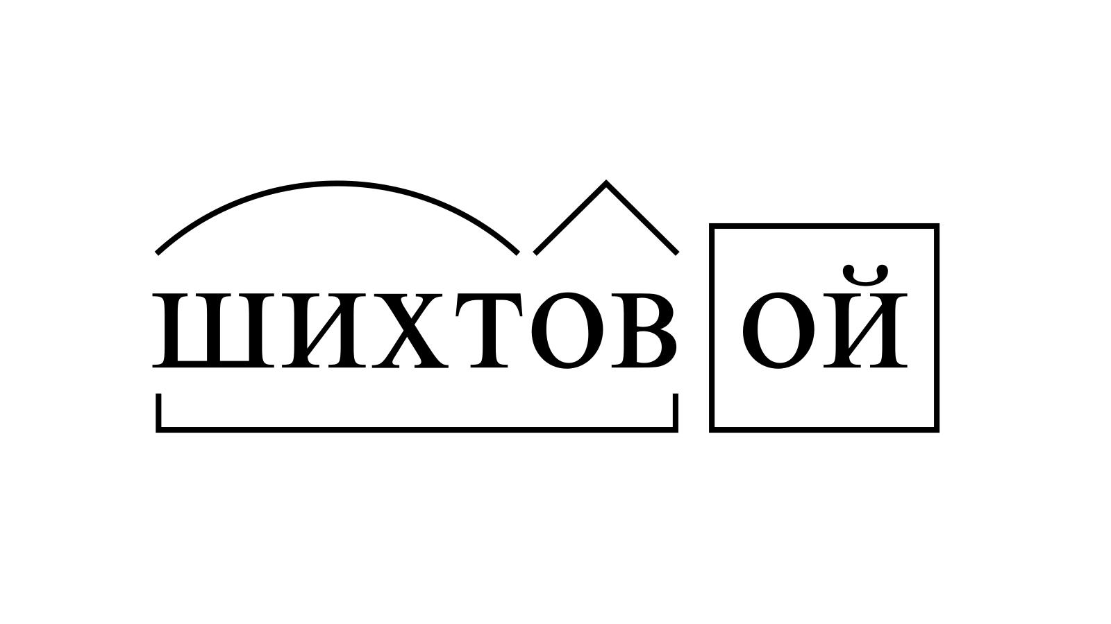 Разбор слова «шихтовой» по составу