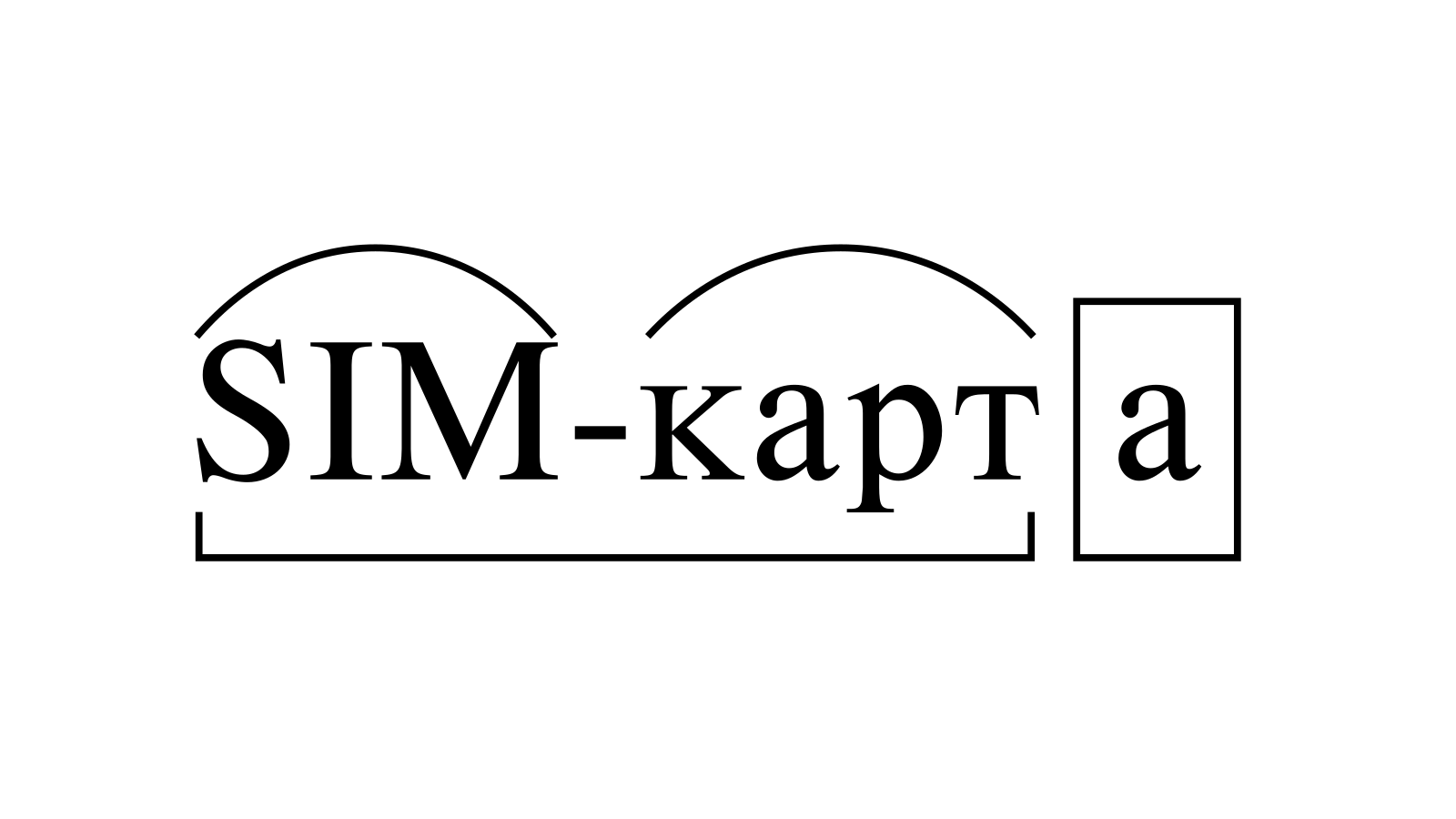 Разбор слова «SIM-карта» по составу