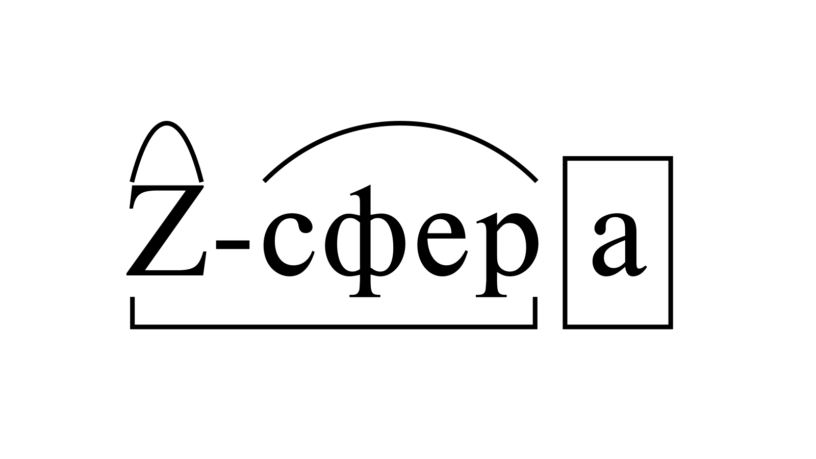 Разбор слова «Z-сфера» по составу